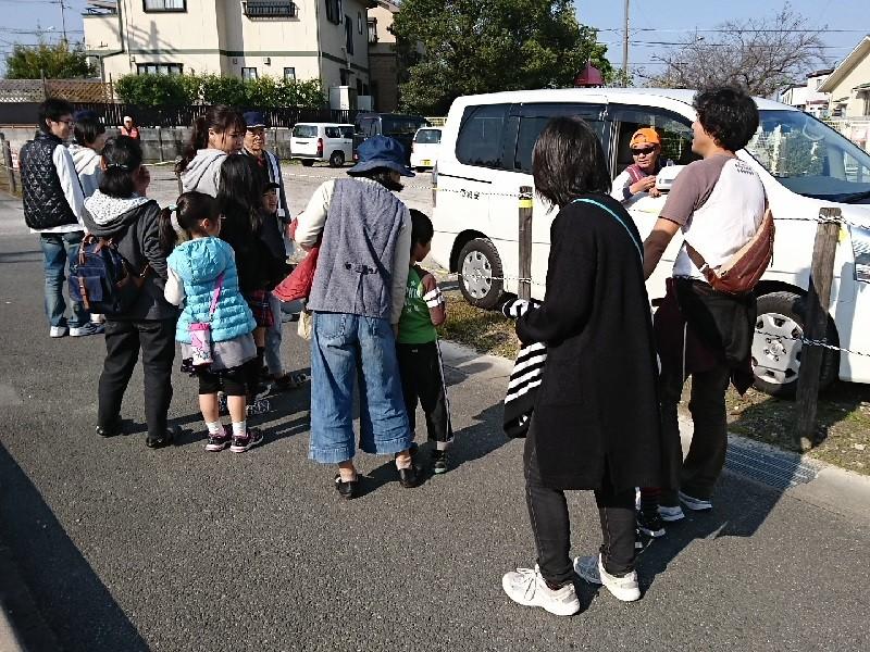 2016.11.5 おやこ防犯ヲーク (13) こえかけ