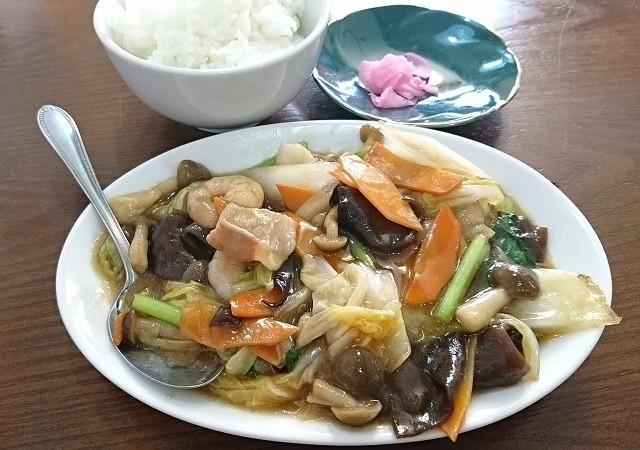 2017.7.7 福来源 (1) 八宝菜とごはん 640-450