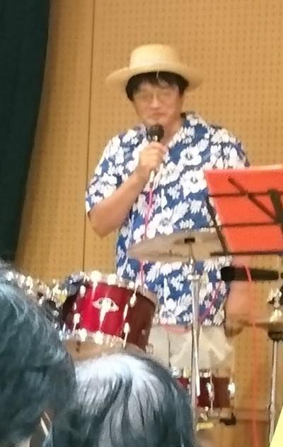 2017.7.22 古井新町ふれあいバンド (9) 個人紹介(ドラム) 400-630