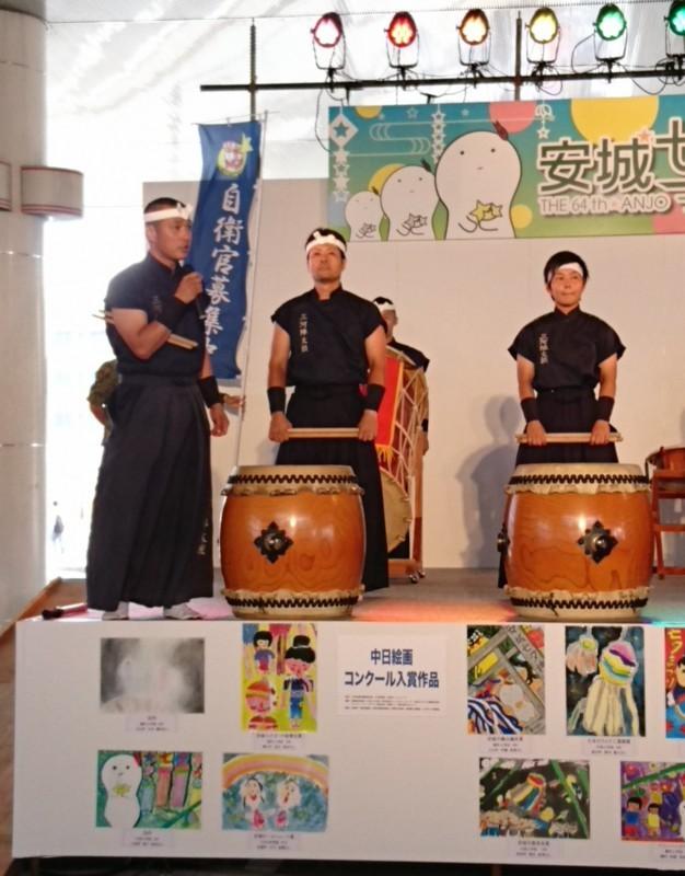 2017年あんじょうたなばたまつり (13) 豊川駐屯地太鼓隊の演奏 1080-1380