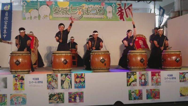 2017年あんじょうたなばたまつり (15) 豊川駐屯地太鼓隊の演奏 1280-720