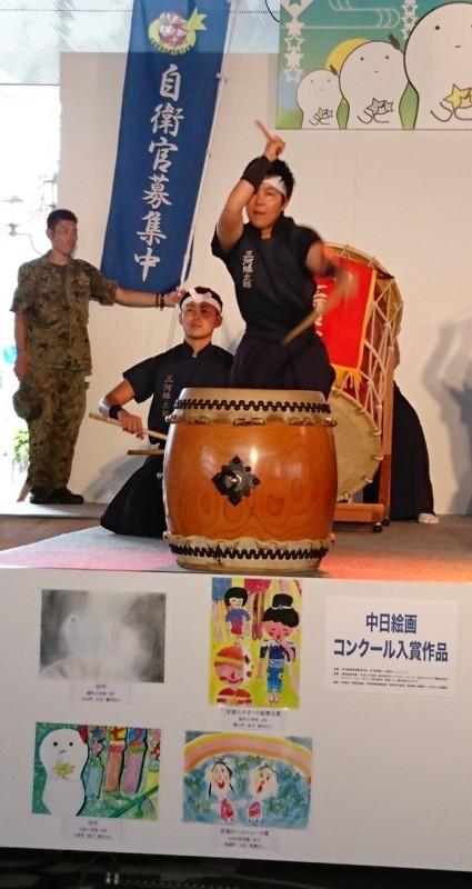 2017年あんじょうたなばたまつり (17) 豊川駐屯地太鼓隊の演奏 680-1280