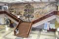大垣市役所のモザイク壁画(岐阜新聞)