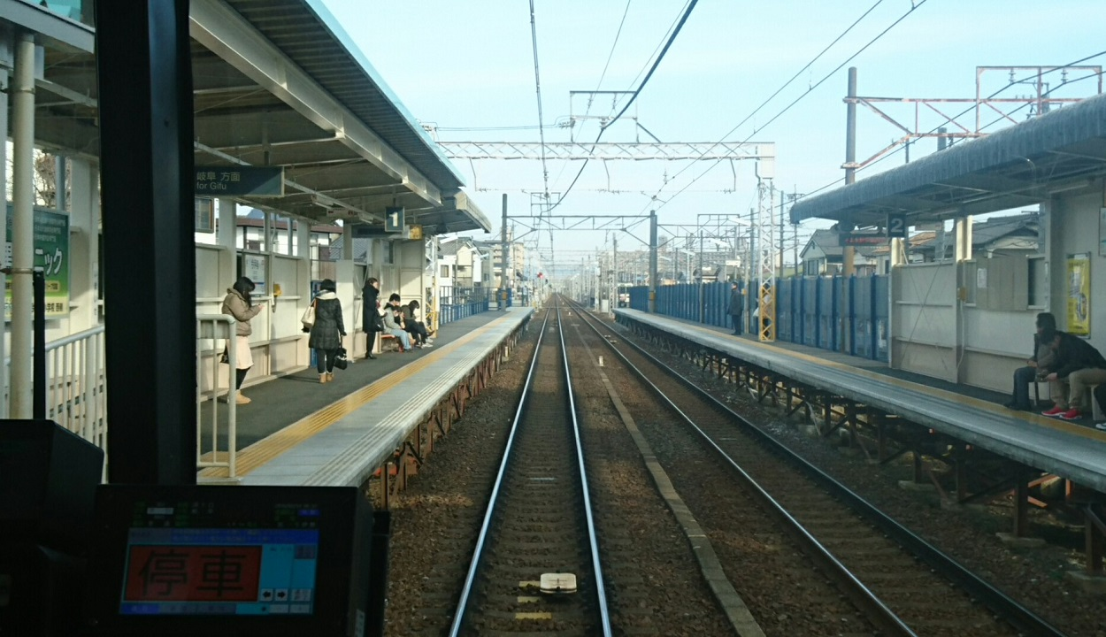 2018.2.19 岐阜 (80) 岐阜いきふつう - 今伊勢 1250-720