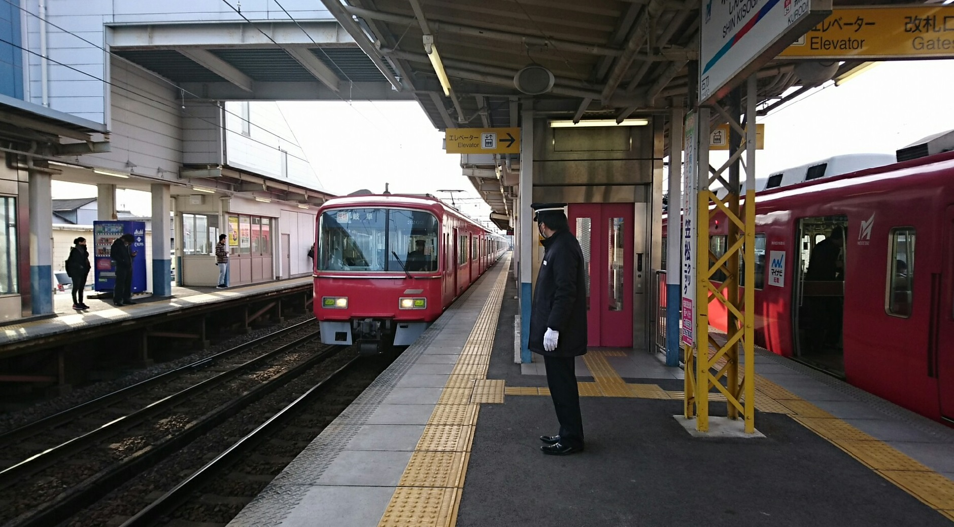 2018.2.19 岐阜 (87) 新木曽川 - 岐阜いき快速特急 1880-1040