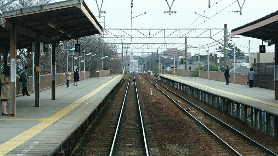 2018.2.21 東岡崎 (9) 東岡崎いきふつう - 岡崎公園前 960-540