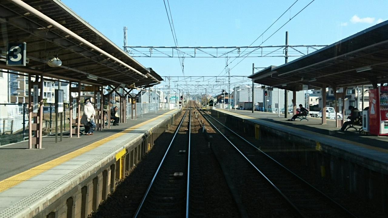2018.2.23 東岡崎 (5) 東岡崎いきふつう - 矢作橋 1280-720