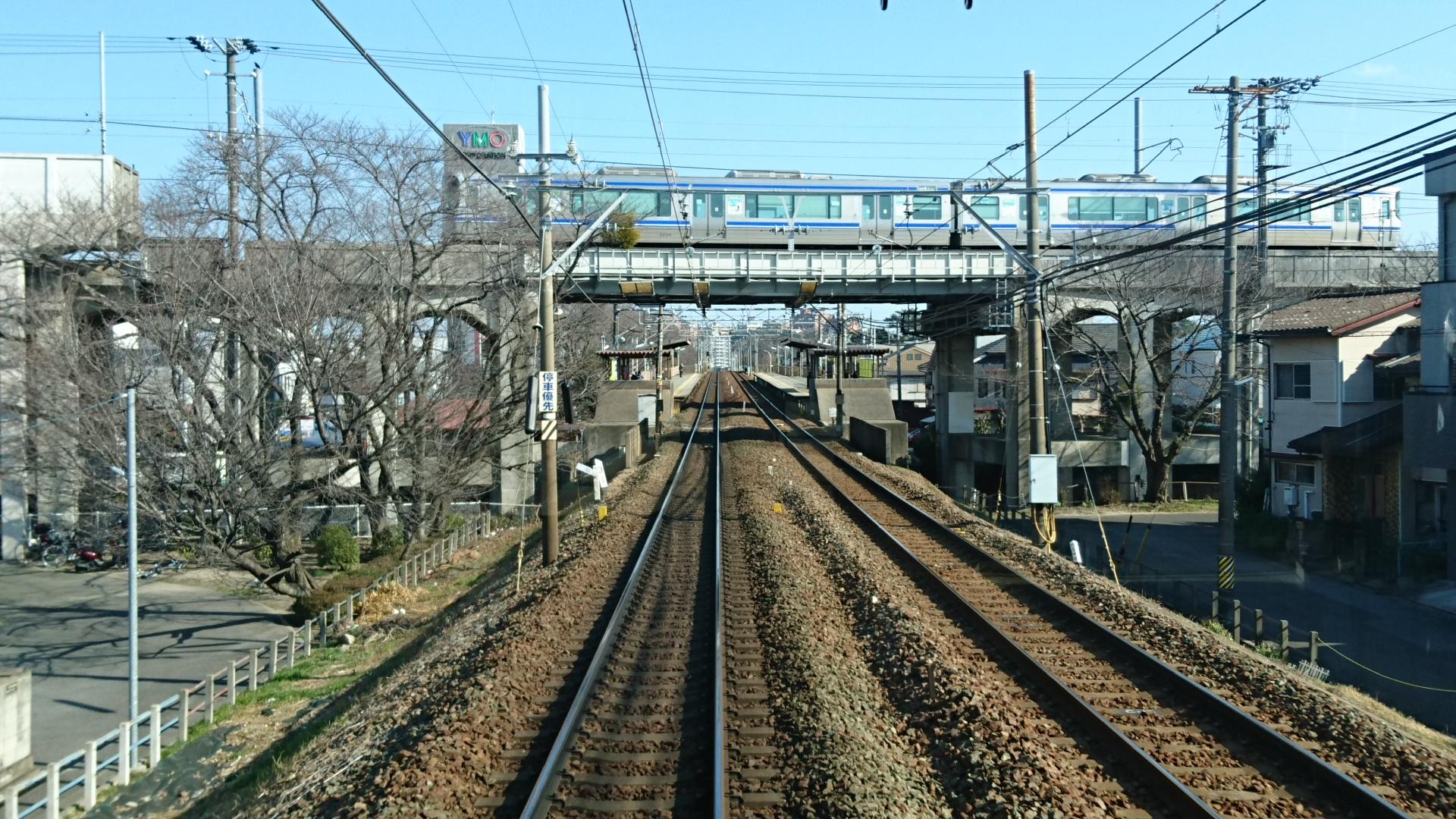 2018.2.23 東岡崎 (6) 東岡崎いきふつう - 岡崎公園前 1920-1080