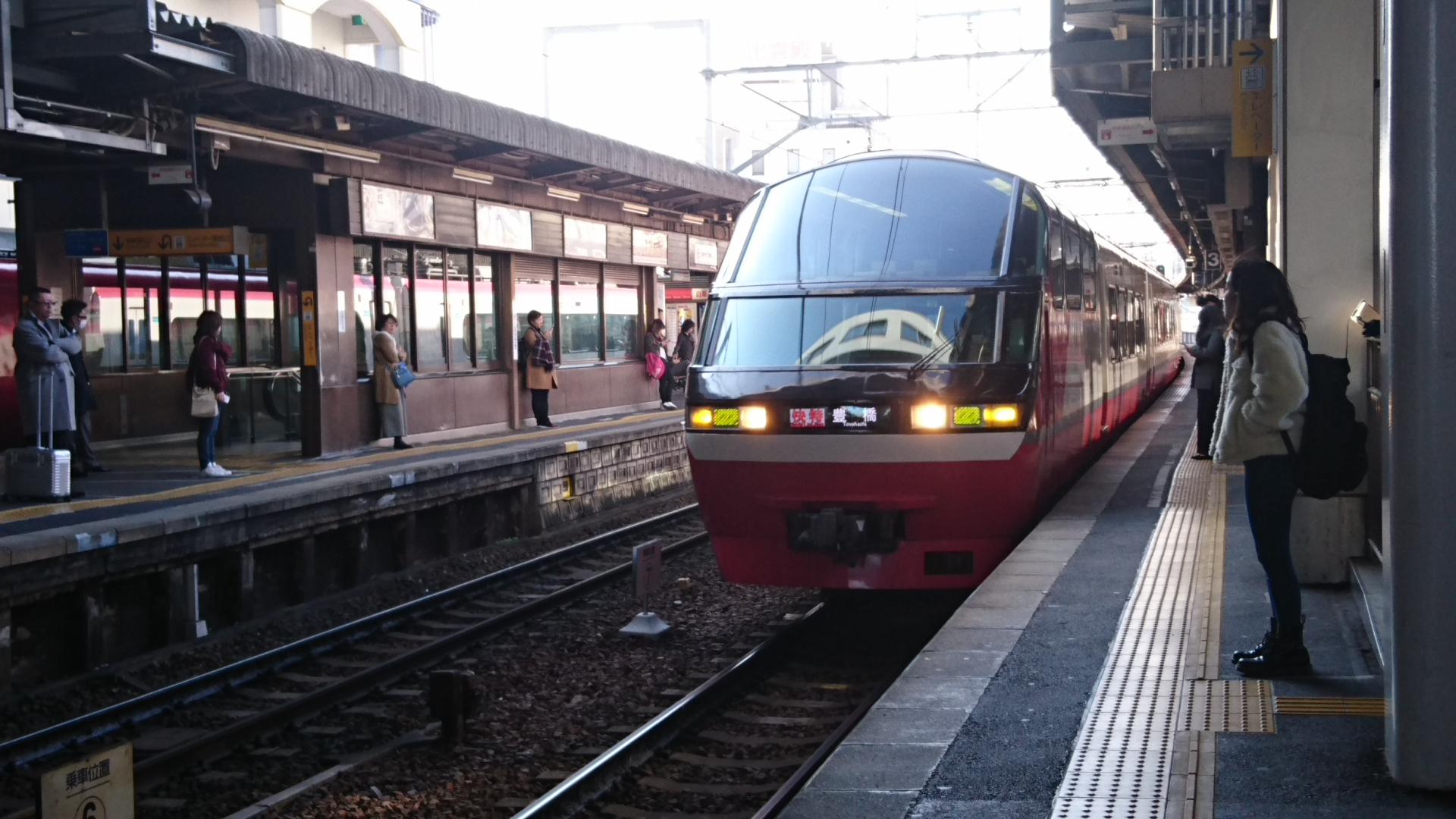 2018.2.23 東岡崎 (13) 東岡崎 - 豊橋いき快速特急 1920-1080
