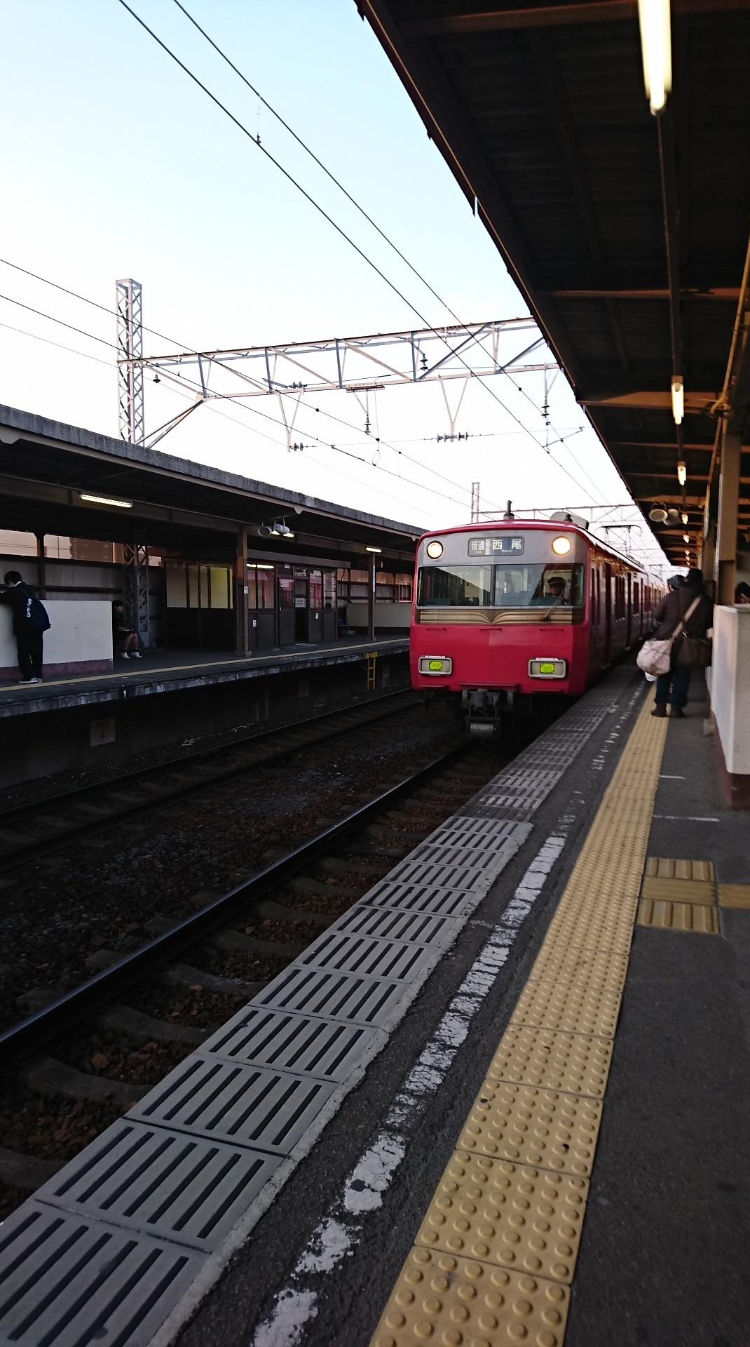 2018.2.23 東岡崎 (28) みなみあんじょう - 西尾いきふつう 1070-1920