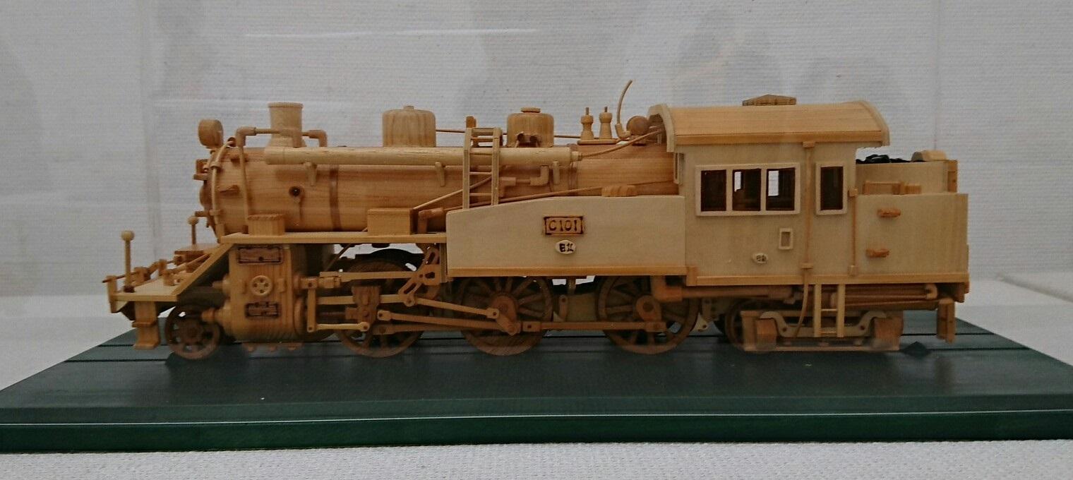 2018.3.22 木工細工蒸気機関車作品展 (1) C101号 1520-680