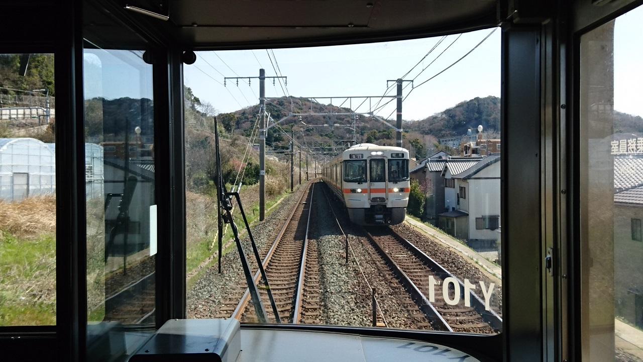 2018.3.23 東海道線 (15) 豊橋いき快速 - 三河三谷-三河大塚間 1280-720