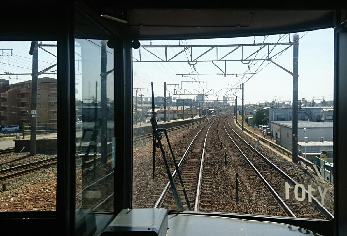 2018.3.23 東海道線 (27) 豊橋いき快速 - 船町 1190-810