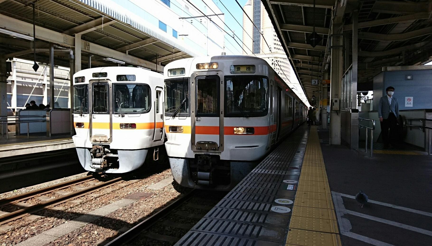 2018.3.23 東海道線 (63) 浜松 - 豊橋いきふつう 1820-1040