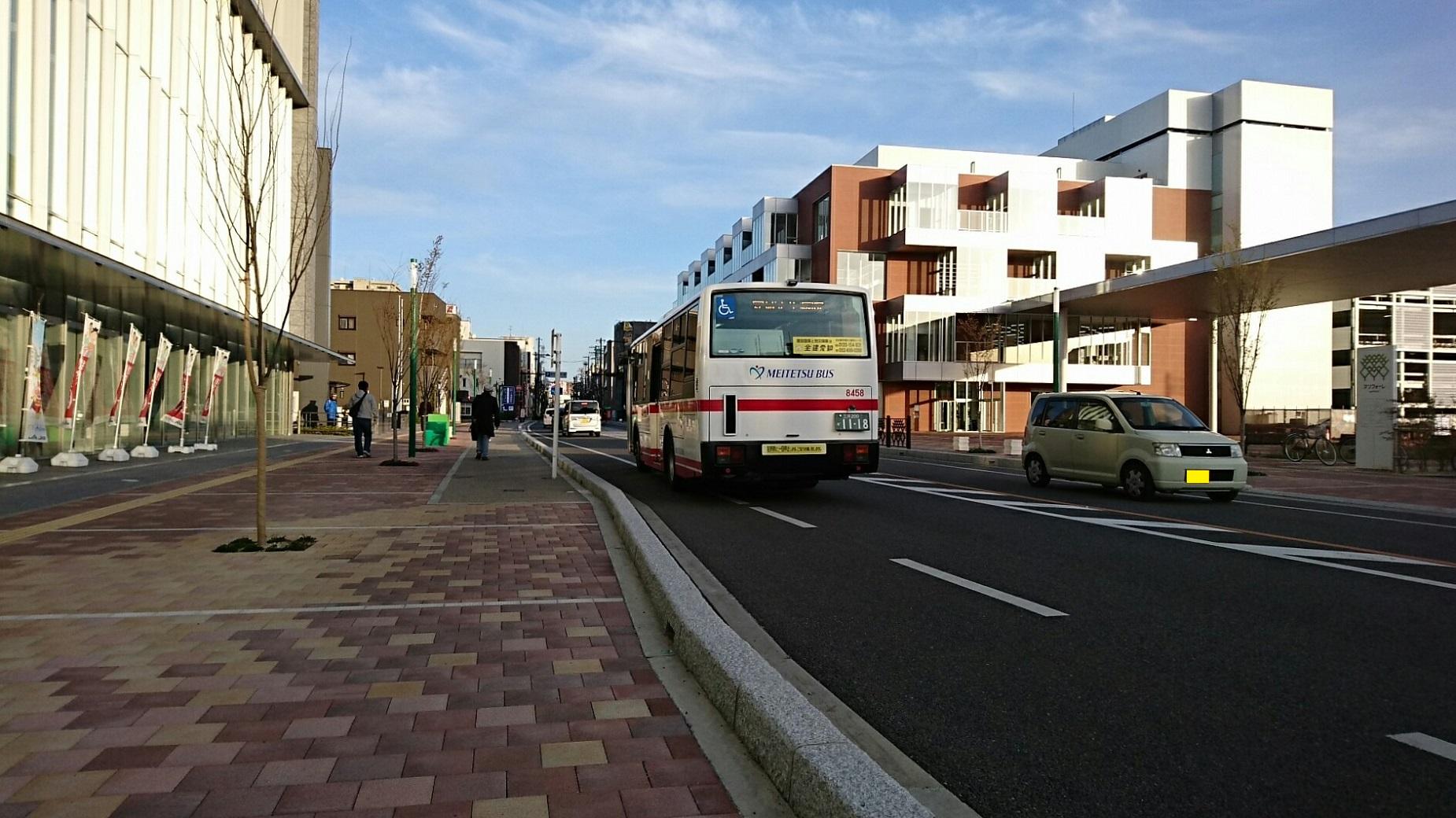 2018.3.23 東海道線 (78) アンフォーレ - 名鉄バス 1850-1040