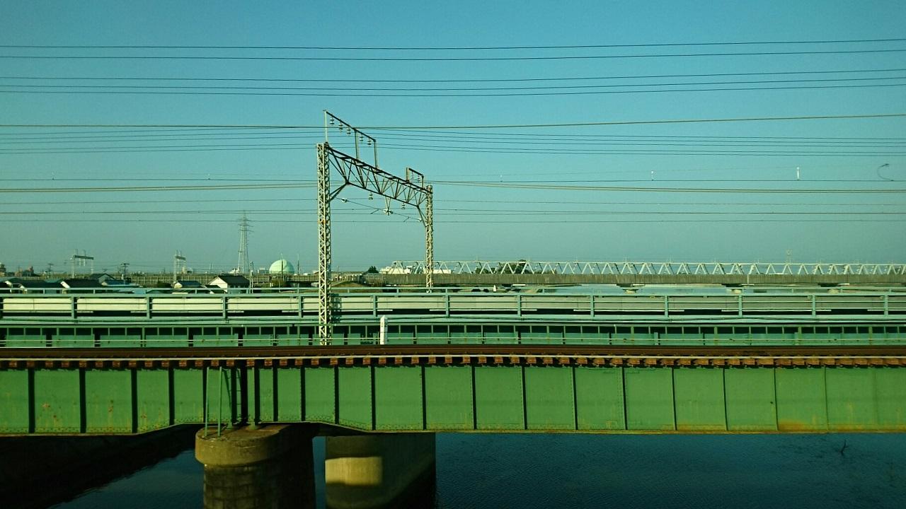2018.3.28 金谷まで (12) 豊橋いき急行 - 豊川(とよがわ)をわたる 1280-720