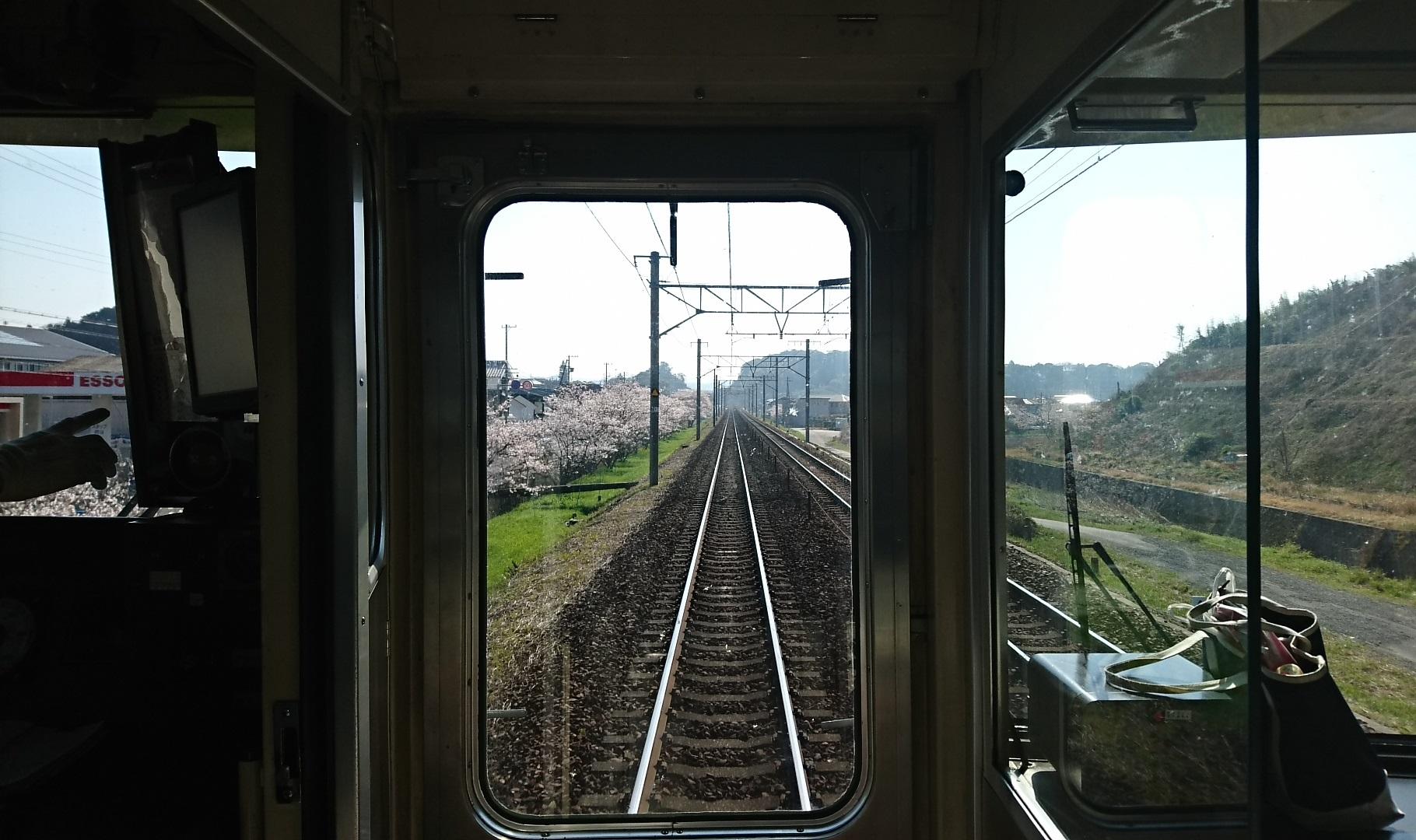 2018.3.28 金谷まで (38) 熱海いきふつう - 掛川-菊川間 1820-1080