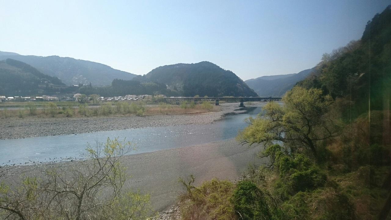2018.3.28 大井川本線 (31) 千頭いきふつう - 家山-抜里間 1280-720