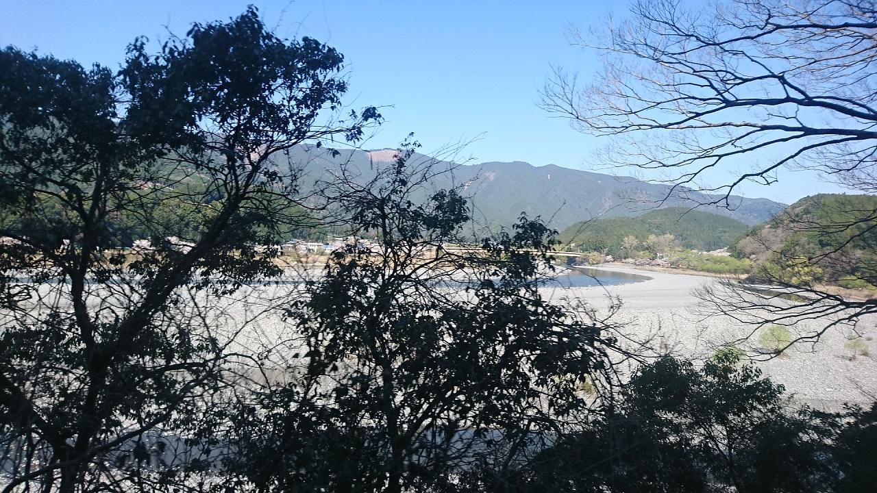 2018.3.28 大井川本線 (40) 千頭いきふつう - 川根温泉笹間渡-地名間 1280-720