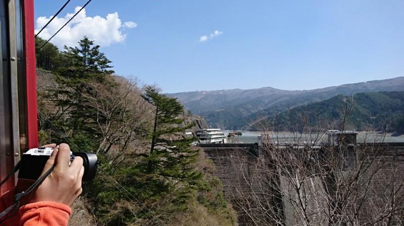 2018.3.28 井川線 (112) 井川いき列車 - 閑蔵-井川間(井川ダム) 1840-1030