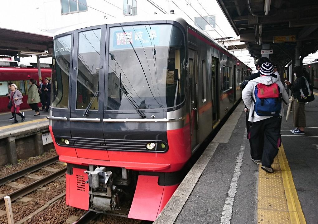 2018.4.24 名古屋 (3) しんあんじょう - 岐阜いき特急 1020-720