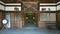 2018.6.3 中島おたうえまつり (14) 八幡社 - 本殿の拝殿 1850-1040