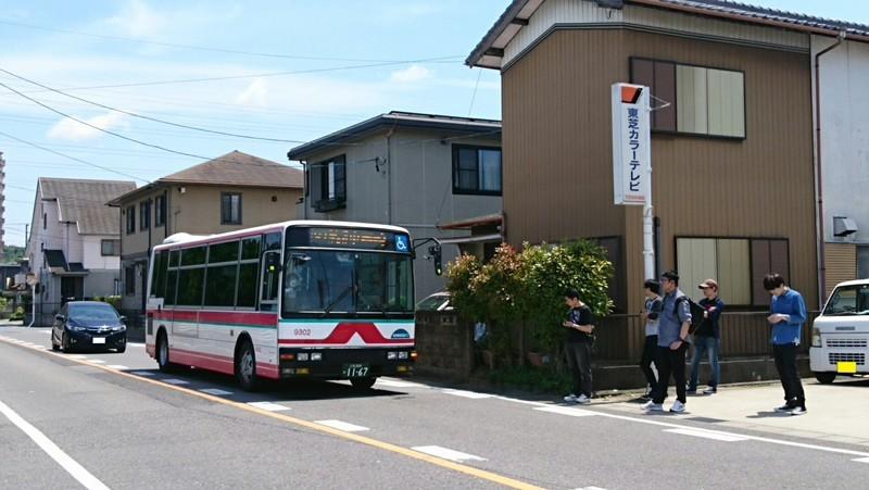 2018.6.3 中島おたうえまつり (24) 長池公園前バス停 - 東岡崎いきバス 1900-1070