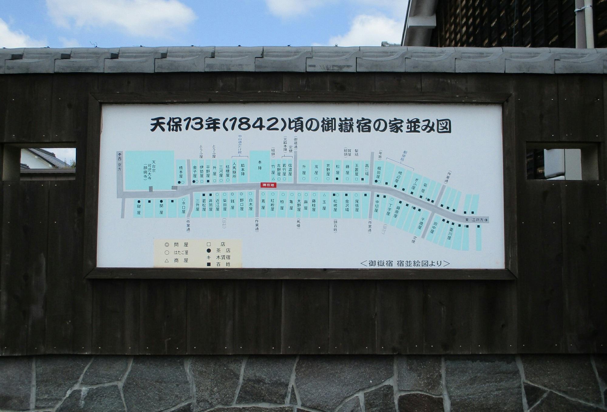 2018.6.7 みたけ (86) 「1842年ごろの御嶽宿のやなみ図」 2000-1360