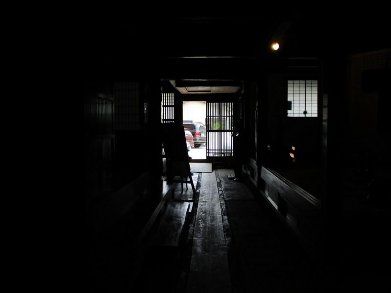 2018.6.7 みたけ (91) 商家竹屋 - どまから玄関をみる 1200-900
