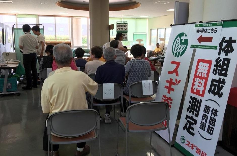 中部福祉センター - スギ薬局からだ測定会 (3) 940-620
