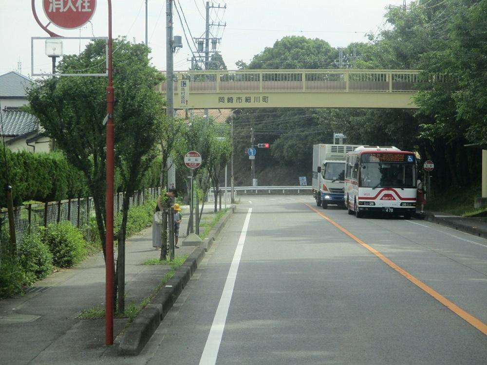 2018.6.22 (35) 足助いきバス - 岩脇バス停 1000-750