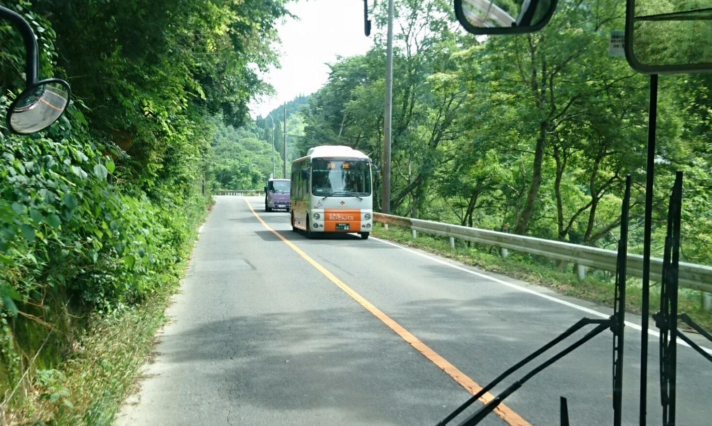 2018.6.22 (60) 足助いきバス - バス停間(つぎは大島) 1420-850