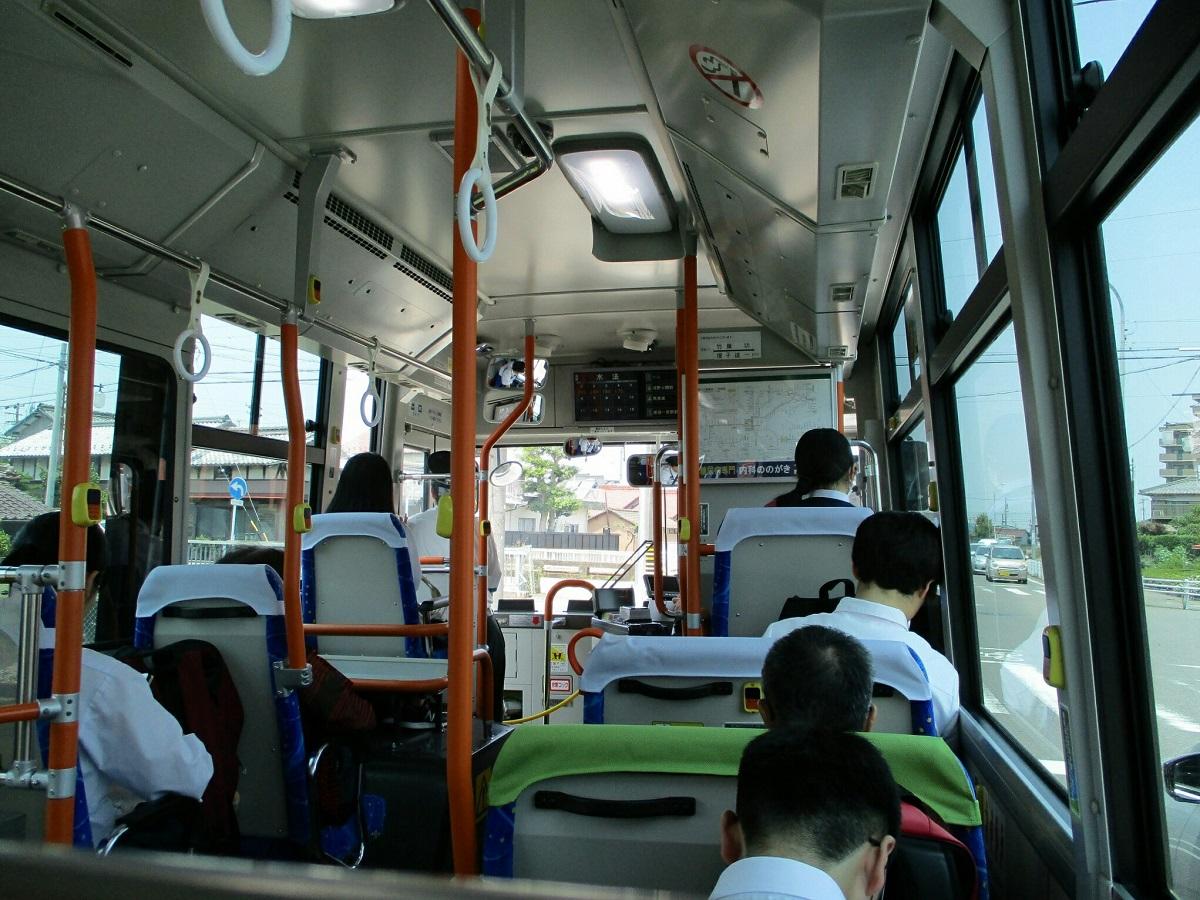 2018.6.25 一宮 (14) 尾張一宮駅前いきバス - 南小渕西交差点を左折 1200-900
