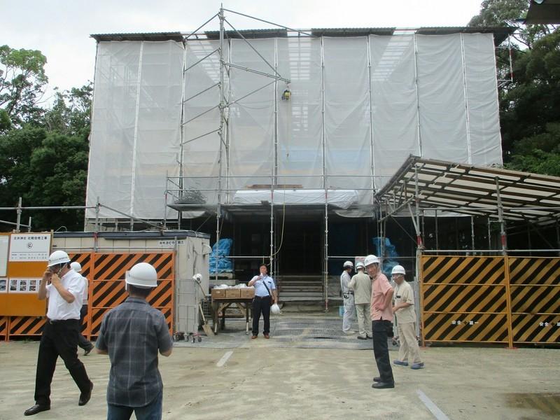 2019.7.20 (1) 古井神社 - 拝殿正面から 1600-1200