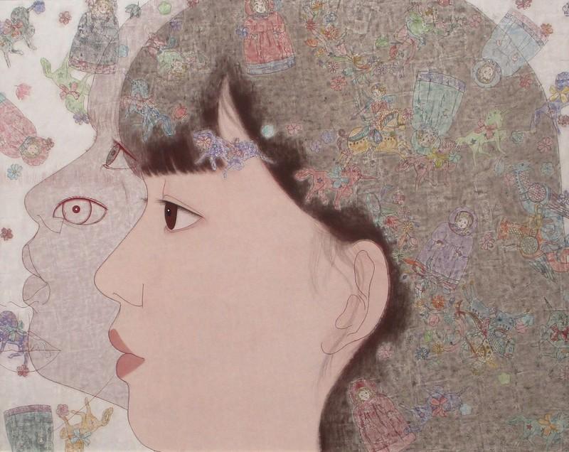 日展 (1) 亀山祐介さん『INNOCENCE』 1435-1140