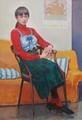 日展 (18) 高須雅治さん『アトリエの刻・ひとみ』 1020-1490