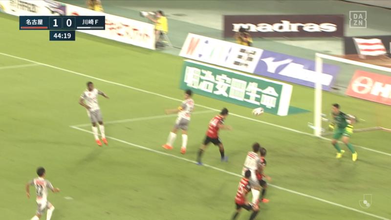 2020.8.23 グランパス - フロンターレ (5) 金崎ゴール!
