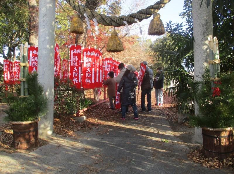 2020.12.31 古井神社 - 千本幟 (2) 1580-1180