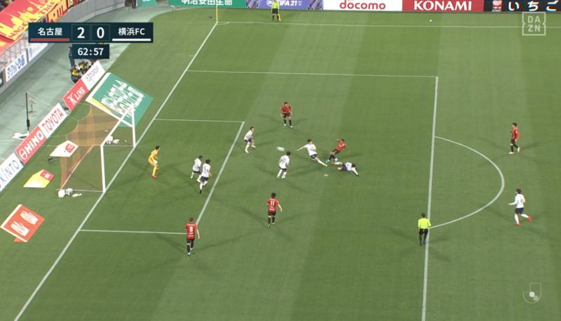 2021.3.17 グランパス - 横浜FC (2) マテウスのゴール 1260-720
