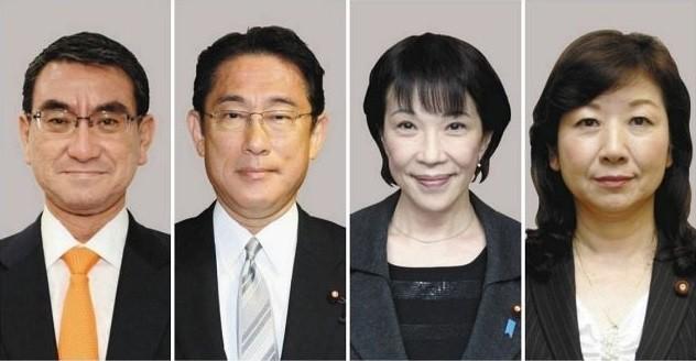 2021.9.18 中日 - 自民総裁選4氏 632-328