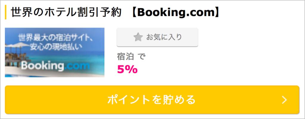Booking.comでポイントを貯める