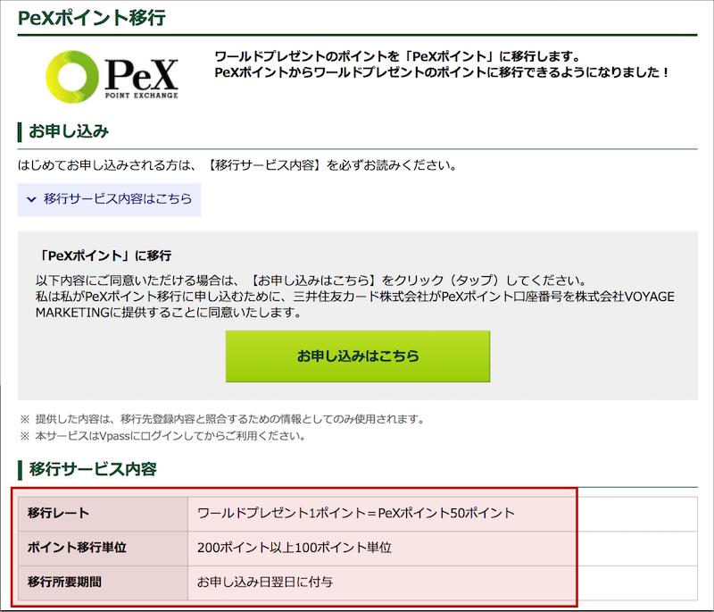 ANAマイルを貯めるためにワールドプレゼントからPeXへ交換