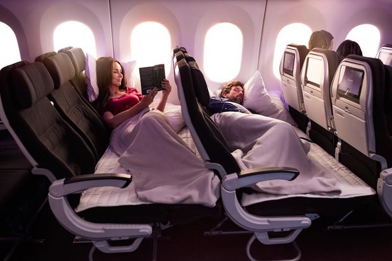 ニュージーランド航空のスカイカウチシート
