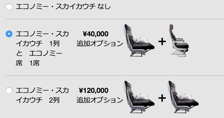 ニュージーランド航空のスカイカウチを3人で利用する場合