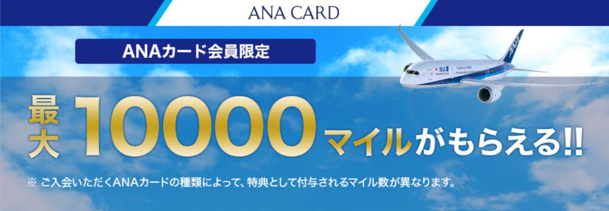 ANAカード入会キャンペーンでマイルを貯める