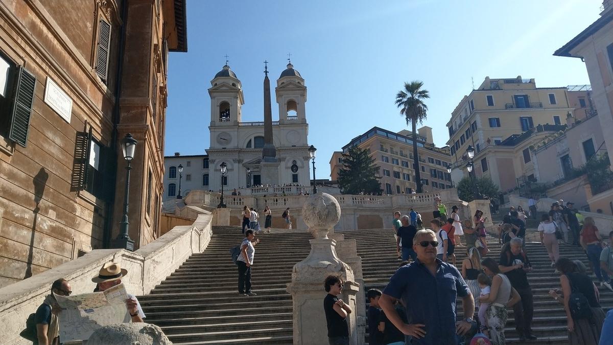 ローマ観光1日目 スペイン広場