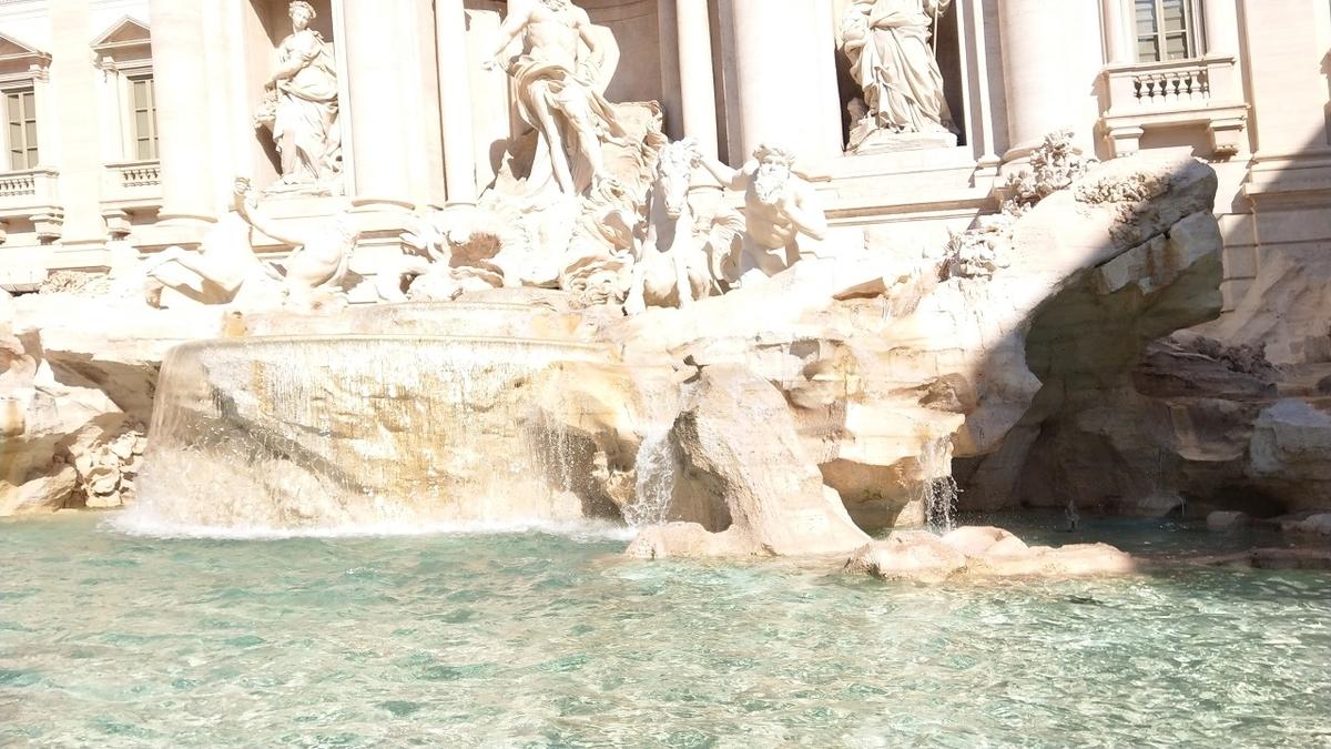ローマ観光1日目 トレビの泉