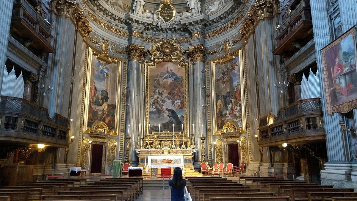 ローマ観光1日目 サンティニャツィオ教会