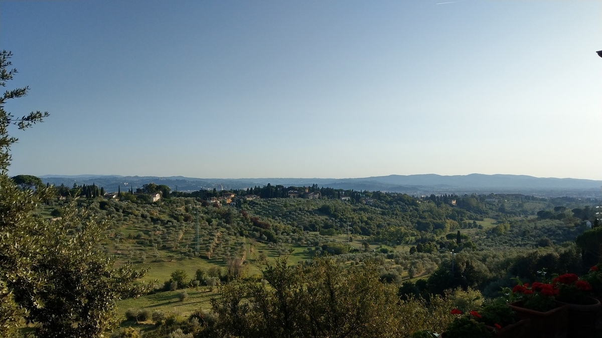 フィレンツェの宿から見える景色