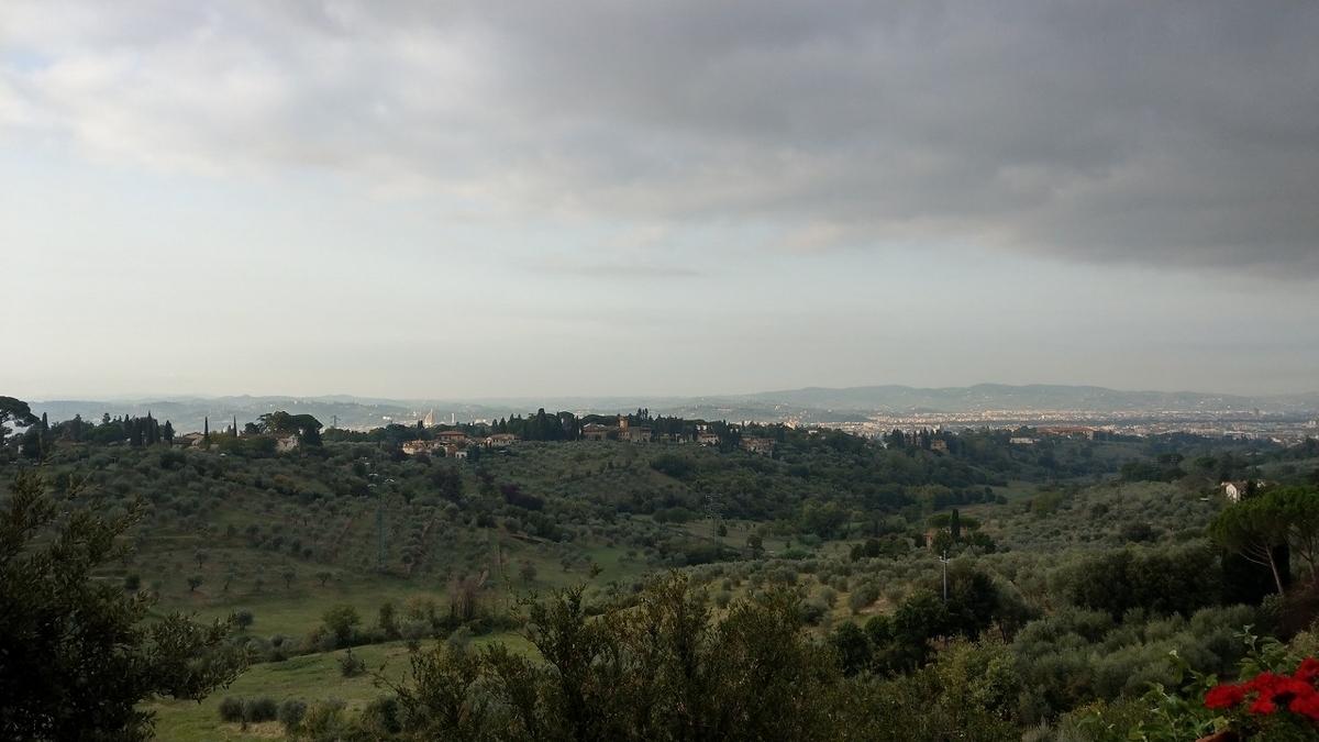 フィレンツェ観光2日目 庭からの景色